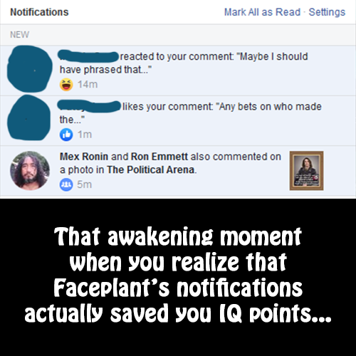 FacePlant Notifications Meme